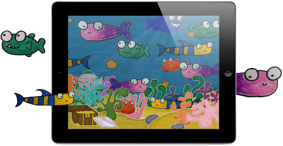 Squiggle Fish iPad